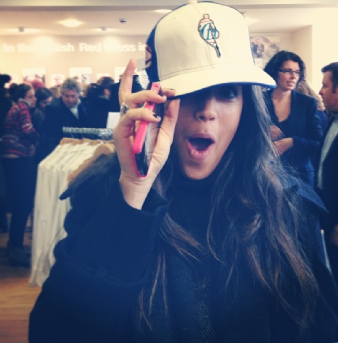 me wearing my future husband's hat – practically engaged)